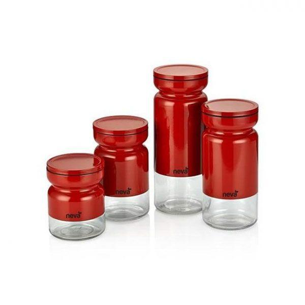 kadoland-Neva Kırmızı Sweet 4'luKavanoz Seti - N750