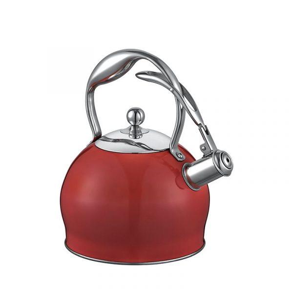 kadoland-Neva Kırmızı Sweet Çelik Demlik - N1158