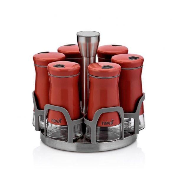 kadoland-Neva Kırmızı Sweet Maxi Baharat Seti - 6 Li - N2403