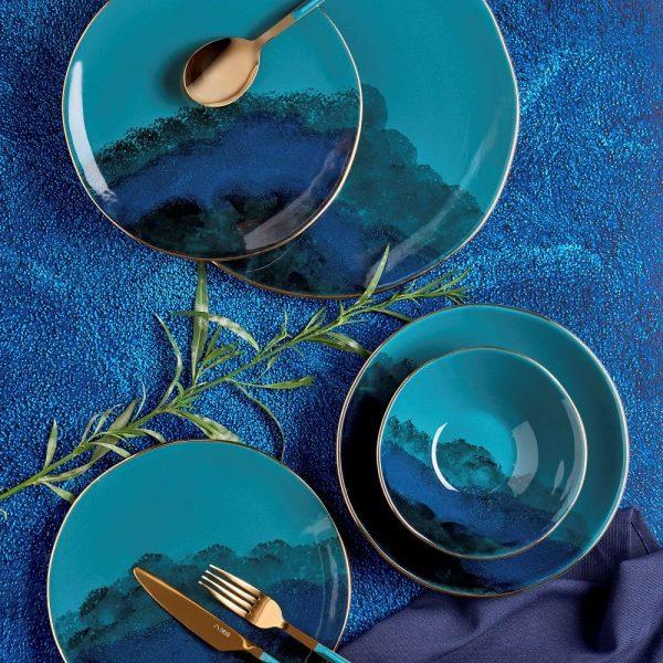 kadoland-Neva Mentol Dream Yemek Takimi- 24 Parca - N2802